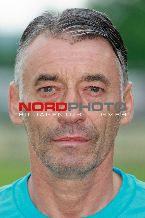 Teampraesentation F91 Duedelingen (F91 Dudelange / D&uuml;delingen) / Stade Jos Nosbaum, Duedelingen / / Fussball, Luxemburg, BGL Ligue, Saison 2014-2015 / 08.07.2014 /<br />   <br />  <br /> im Bild Luc Duville (Torwarttrainer)<br /> Portrait<br /> Foto &copy; nordphoto / Majerus
