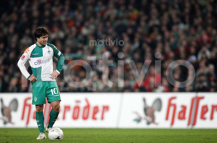 FUSSBALL     1. BUNDESLIGA     SAISON 2007/2008   16. SPIELTAG Hannover 96 - SV Werder Bremen                                08.12.2007 DIEGO (Bremen) enttaeuscht
