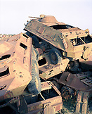 ERITREA, Asmara, old tanks piled in the tank cemetery