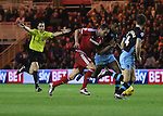 KIKE of Middlesbrough battling with Jose Semedo of Sheffield Wednesday for the ball - Sky Bet Championship - Middlesbrough vs Sheffield Wednesday - Riverside Stadium - Middlesbrough - England - 28th of December 2015 - Picture Jamie Tyerman/Sportimage