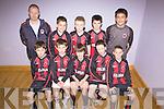 St. Brendans Park F.C. Tralee A Team.F l-r: Andrew Philip, Darren Chester, John Carroll, Tommy Lynch, Nathan O'Leary.B l-r: Philip McCarthy (coach), Sean Paterson, Josh Laucher, David Long, Daniel Cournane