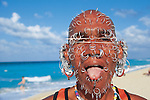 Cuba: Playa del Este; The Earring Man: An extravagantly pierced Cuban beach character captured on Playa del Este, a popular public beach east of Havana.