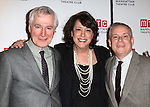 Playwright John Patrick Shanley, Artistic Director Lynne Meadow and Director Doug Hughes attend the 'Outside Mullinger' Broadway opening night after party at The Copacabana on January 23, 2014 in New York City.