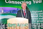 Mayor of Kerry, Tim Buckley, at the launch of the Kerry Dublin Aer Arann flights.