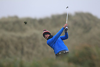 Joshua McCabe (Roganstown) on the 13th tee during Round 2 of the Ulster Boys Championship at Portrush Golf Club, Portrush, Co. Antrim on the Valley course on Wednesday 31st Oct 2018.<br /> Picture:  Thos Caffrey / www.golffile.ie<br /> <br /> All photo usage must carry mandatory copyright credit (&copy; Golffile | Thos Caffrey)