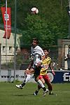 Sandhausen 03.05.2008, Tim Bauer (SV Sandhausen) und Haron Toprak (SC Pfullendorf) beim Spiel in der Regionalliga SV Sandhausen - SC Pfullendorf<br /> <br /> Foto &copy; Rhein-Neckar-Picture *** Foto ist honorarpflichtig! *** Auf Anfrage in h&ouml;herer Qualit&auml;t/Aufl&ouml;sung. Belegexemplar erbeten.