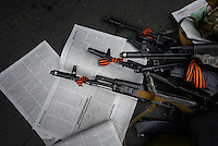 Weapons used by pro-russian activists