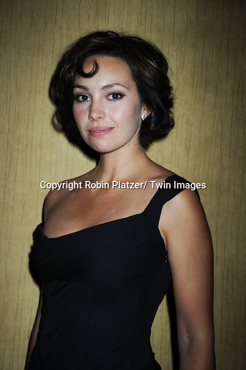 Emily O'Brien  posing at  the after party at the  Daytime Emmy Awards on June 27, 2010 at the Hilton at Las Vegas in Nevada.