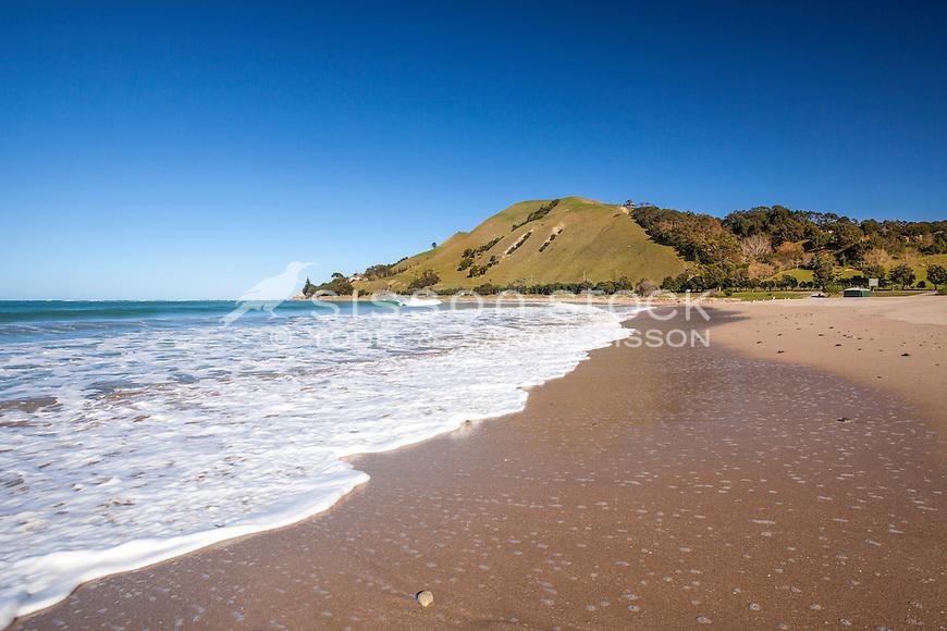 waves at Turihaua Bay beach. Gisborne, Eastland North Island New Zealand.