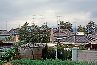 So. Korea: Kyong-Ju--houses, gardens. Photo '81.