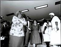 Maria Aeg&ecirc;nia Rios, durante a posse do governador do Par&aacute;, J&aacute;der Barbalho, pelo 2&ordm; mandato.<br />15/03/1991<br />Foto Paulo Santos/Interfoto