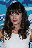 SANTA MONICA, CA - SEPTEMBER 09: Actress Zooey Deschanel arrives at the FOX Fall Eco-Casino Party 2013 held at The Bungalow on September 9, 2013 in Santa Monica, California. (Photo by Xavier Collin/Celebrity Monitor)