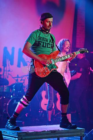 FORT LAUDERDALE FL - JUNE 10: Boris Pelekh of Gogol Bordello performs at Revolution on June 10, 2016 in Fort Lauderdale, Florida. Credit: mpi04/MediaPunch