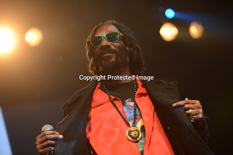 Snoop Lion performs at The Fillmore Auditorium Friday April 19 in Denver to kick off 4/20 weekend celebrations at the High Times Medical Cannabis Cup. High Times gave Snoop Lion a lifetime achievement award during the raucous, smoke-filled evening.
