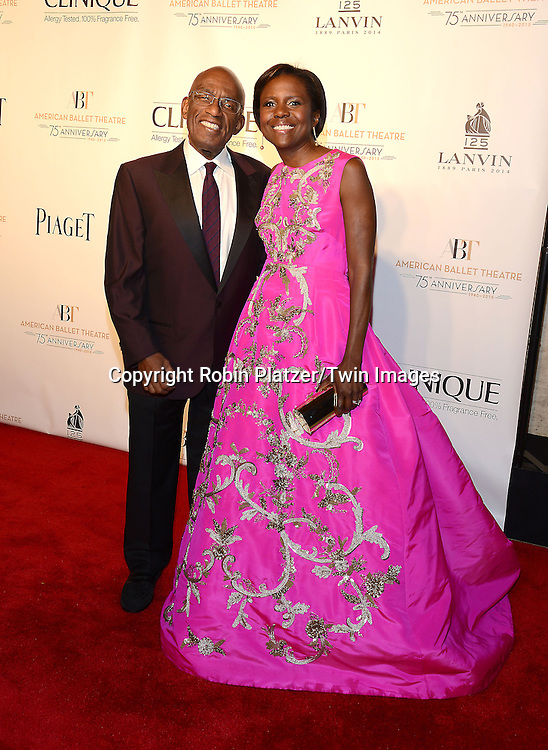 Al Roker and Deborah Roberts attend the Opening Night of American Ballet Theatre 2014 Fall Gala on October 22,2014 at the David Koch Theater at Lincoln Center in New York City.<br /> <br /> photo by Robin Platzer/Twin Images<br />  <br /> phone number 212-935-0770