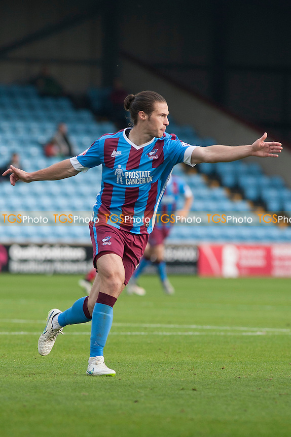 Tommy Rowe of Scunthorpe Utd<br /> during Scunthorpe United vs Fleetwood Town, Sky Bet League 1 Football at Glanford Park, Scunthorpe, England on 03/10/2015