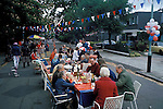 Silver Jubilee celebrations, London 1977.Uk. STREET PARTY WEALTHY NEIGHBOURHOOD HAMPSTEAD LONDON