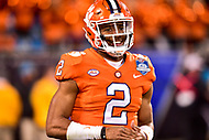 Charlotte, NC - DEC 2, 2017: Clemson Tigers quarterback Kelly Bryant (2) is all smiles after throwing a touchdown during ACC Championship game between Miami and Clemson at Bank of America Stadium Charlotte, North Carolina. (Photo by Phil Peters/Media Images International)