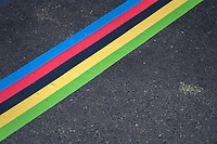 rainbow startline<br /> <br /> Men's Team Time Trial<br /> <br /> UCI 2017 Road World Championships - Bergen/Norway