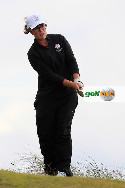 Emily Toy (ENG) on the 7th during Round 3 Matchplay of the Women's Amateur Championship at Royal County Down Golf Club in Newcastle Co. Down on Friday 14th June 2019.<br /> Picture:  Thos Caffrey / www.golffile.ie