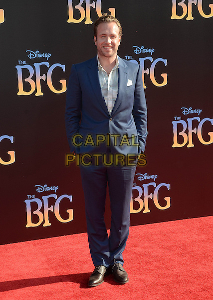 21 June 2016 - Hollywood. Rafe Spall. Arrivals for the Premiere Of Disney's &quot;The BFG&quot; held at El Capitan Theater. <br /> CAP/ADM/BT<br /> &copy;BT/ADM/Capital Pictures