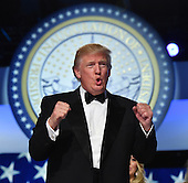 United States President Donald Trump appears at the Freedom Ball on January 20, 2017 in Washington, D.C. Trump will attend a series of balls to cap his Inauguration day.   Photo by Kevin Dietsch/UPI    <br /> Credit: Kevin Dietsch / Pool via CNP