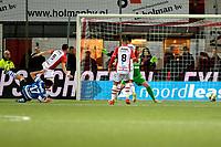 EMMEN - Voetbal, FC Emmen - De Graafschap, De  Oude Meerdijk, Jupiler League, seizoen 2017-2018, 16-02-2018,  de Graafschap speler Tarik Tissoudali viert de 1-2