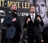 BEVERLY HILLS - MAY 22: Caleb Plant and Mike Lee attend a press conference in Beverly Hills for their Super Middleweight Championship fight on Premier Boxing Champions on FOX Sports Pay-Per-View event on Saturday July 20 in Las Vegas. (Photo by Frank Micelotta/Fox Sports/PictureGroup)