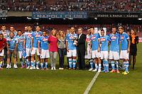 NAPOLI 29/07/2012 -ACQUA LETE CUP 2012 INCONTRO NAPOLI - BAYERN LEVERKUSEN.NELLA FOTO PREMIAZIONE.FOTO CIRO DE LUCA