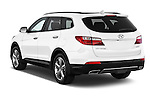 Car pictures of rear three quarter view of a 2014 Hyundai Santa Fe GLS 5 Door SUV Angular Rear