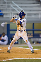 Dale Burdick (2) of the Kingsport Mets at bat against the Elizabethton Twins at Hunter Wright Stadium on July 9, 2015 in Kingsport, Tennessee.  The Twins defeated the Mets 9-7 in 11 innings. (Brian Westerholt/Four Seam Images)