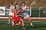 Placentia, CA 05/14/10 - Melissa Hastie (Los Alamitos # 16), Torrey Bailey (Los Alamitos # 4) and Julia Denney (Redondo #11) in action during the 2010 CIF Girls Lacrosse Championship game between Redondo Union and Los Alamitos, Los Alamitos defeated Redondo 24-7.