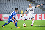 28th September 2017, Partizan Stadium, Belgrade, Serbia; UEFA Europa League group stage, Partizan versus Dynamo Kiev; Defender Nemanja Miletic of Partizan shoots the ball