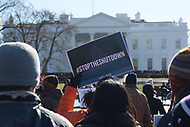 Washington, DC - January 10, 2018: Federal workers joined AFL-CIO leaders during a march march and rally at the White House to end the government shutdown, January 10, 2019. (Photo by Lenin Nolly/Media Images International)