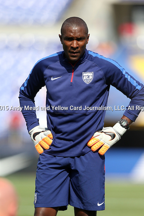 18 July 2015: U.S. goalkeeper coach Russell Payne. The United States Men's National Team played the Cuba Men's National Team at M&T Bank Stadium in Baltimore, Maryland in a 2015 CONCACAF Gold Cup quarterfinal match. The U.S. won the game 6-0.