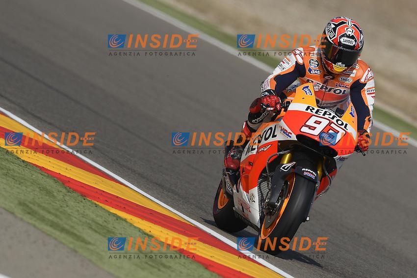 Aragon (Spagna) 27/09/2014 - qualifiche Moto GP - foto Luca Gambuti/Image Sport/Insidefoto<br /> nella foto: Marc Marquez