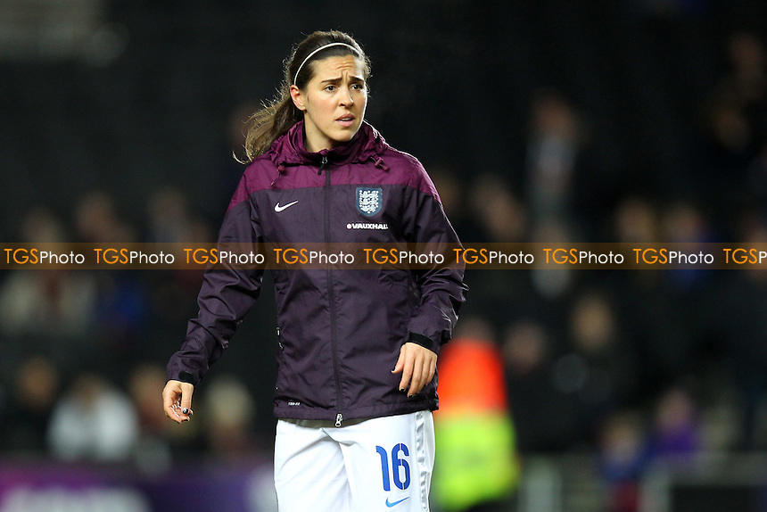 Fara Williams of England - England Women vs USA Women - International Football Friendly Match at Stadium MK, Milton Keynes Dons FC - 13/02/15 - MANDATORY CREDIT: Gavin Ellis/TGSPHOTO - Self billing applies where appropriate - contact@tgsphoto.co.uk - NO UNPAID USE