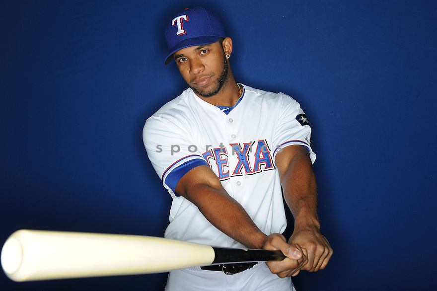 Texas Rangers Elvis Andrus (1) at media photo day during spring training on February 20, 2013 in Surprise, AZ