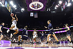 COLUMBUS, OH - APRIL 1: Victoria Vivians #35 of the Mississippi State Bulldogs shoots over Kristina Nelson #21 of the Notre Dame Fighting Irish during the championship game of the 2018 NCAA Division I Women's Basketball Final Four at Nationwide Arena in Columbus, Ohio. (Photo by Justin Tafoya/NCAA Photos via Getty Images)