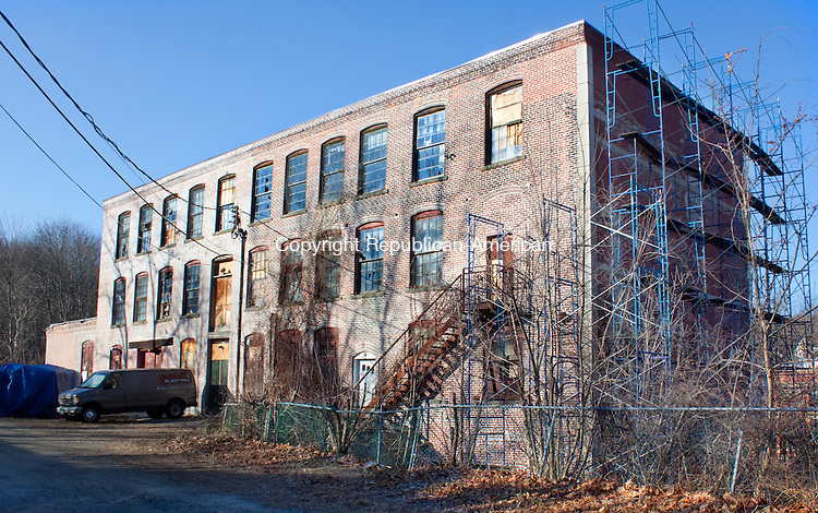 WINSTED CT- DECEMBER 13  2012 -121312DA13- The former Winsted Furniture building at 10 Bridge St. in Winsted is now the Complex Mad River Lofts, which will be renovated for possible artist studios, high-end tech offices, light manufacturing and restaurants..Darlene Douty Republican American