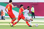 Akhlidin Israilov of Kyrgyz Republic (R) is tackled by Liu Yang of China (C) during the AFC Asian Cup UAE 2019 Group C match between China (CHN) and Kyrgyz Republic (KGZ) at Khalifa Bin Zayed Stadium on 07 January 2019 in Al Ain, United Arab Emirates. Photo by Marcio Rodrigo Machado / Power Sport Images