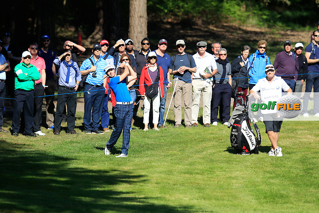 Brett Rumford (AUS) during round 1 of the 2015 BMW PGA Championship over the West Course at Wentworth, Virgina Water, London. 21/05/2015<br /> Picture Fran Caffrey, www.golffile.ie: