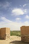 Israel, Negev desert, Tel Beer Sheba, the outer gate of the Biblical city of Beer Sheba, UNESCO World Heritage Site