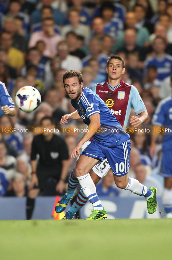 Juan Mata of Chelsea chases a ball down - Chelsea vs Aston Villa - Barclays Premier League Football at Stamford Bridge, Fulham Road, London - 21/08/13 - MANDATORY CREDIT: Simon Roe/TGSPHOTO - Self billing applies where appropriate - 0845 094 6026 - contact@tgsphoto.co.uk - NO UNPAID USE