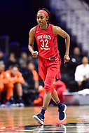 Washington, DC - June 3, 2018: Washington Mystics guard Shatori Walker-Kimbrough (32) in action during game between the Washington Mystics and Connecticut Sun at the Capital One Arena in Washington, DC. (Photo by Phil Peters/Media Images International)