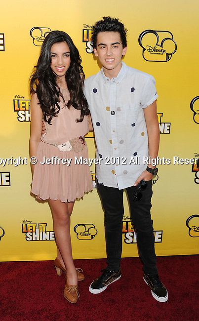 LOS ANGELES, CA - JUNE 05: Brandon & Savannah attend Disney's 'Let It Shine' Premiere held at The Directors Guild Of America on June 5, 2012 in Los Angeles, California.