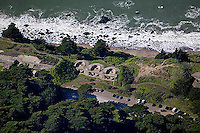 aerial photograph bunkers Presidio of San Francisco