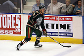 February 24th 2008:  Paul Albers (3) of the Houston Aeros skates up ice during a game vs. the Rochester Amerks at Blue Cross Arena at the War Memorial in Rochester, NY.  The Aeros defeated the Amerks 4-0.   Photo copyright Mike Janes Photography 2008