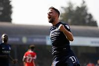 GOAL - Stephen McLaughlin of Southend United scores during the Sky Bet League 1 match between Southend United and MK Dons at Roots Hall, Southend, England on 21 April 2018. Photo by Carlton Myrie.