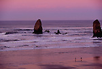 Seastacks and waves, Cannon Beach, Oregon